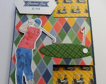 Fun Fold Golf 3-D Birthday Card