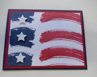 Abstract Flag Card
