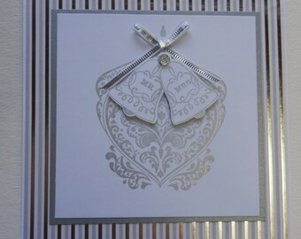 Silver Bells Wedding Card