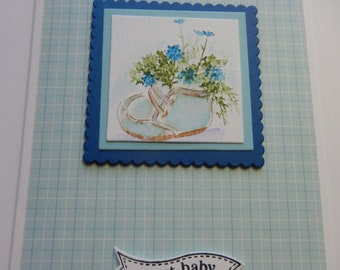 Blue Bootie Babyb Card