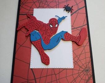 Spiderman Super Hero Card