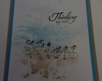 Thinking of You Watercolor Background Card