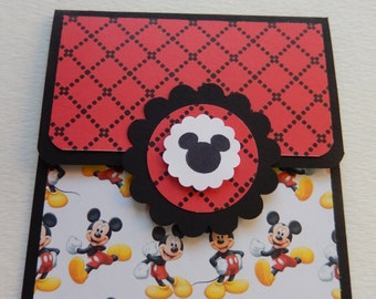 Mickey Themed Giftcard Holder in Black