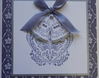Purple Bells Wedding Card
