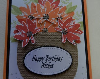 Flower Basket Birthday Card