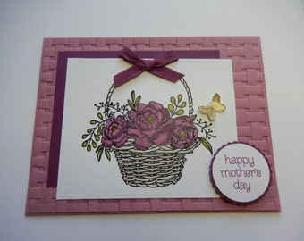 Flower Basket Mother's Day Card