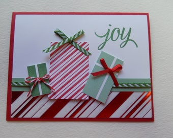 Joy Christmas Present Card