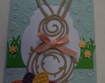 Swirly Bunny Easter Card