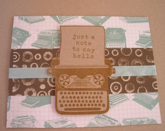Handmade Hello Typewriter Card