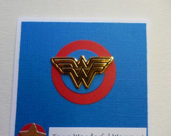 Square Wonder Woman Card