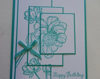 Three Layer Floral Birthday Card