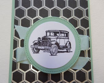 Old Fashioned Car Card
