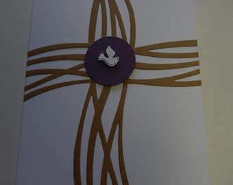 Swirly Cross Confirmation Card