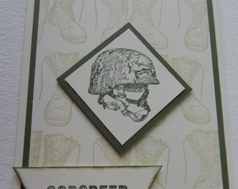 Military Helmet Godspeed Card
