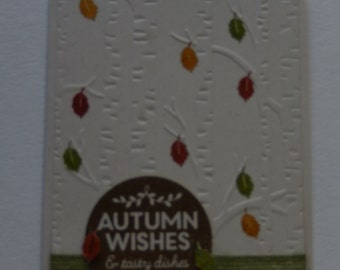 Autumn Birch Tree Card