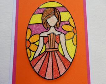 60's Flower Child Retro Card
