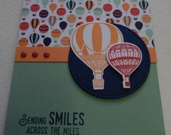 Hot Air Balloon Extended Fold Birthday Card