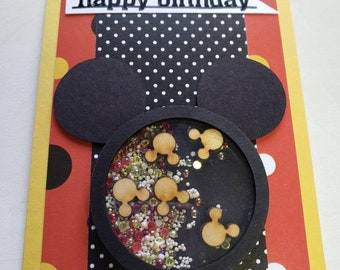Mickey Mouse Shaker Birthday Card