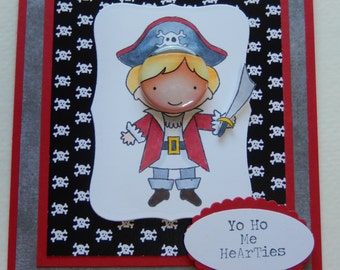 Skull and Crossbones Pirate Birthday Card