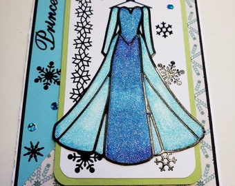 Disney's Princess Elsa Glitter Card