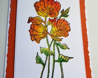 Marigolds Mother's Day Card