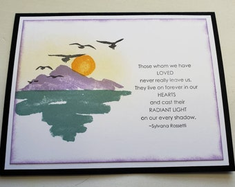 Mountain and Shadow Sympathy Card