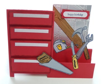 Red Toolbox Birthday or Father's Day Card