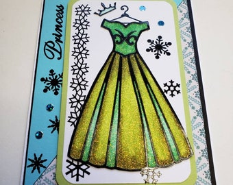 Disney's Princess Anna Glitter Card