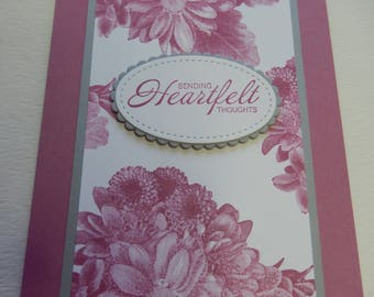 Heartfelt Thoughts Floral Sympathy Card