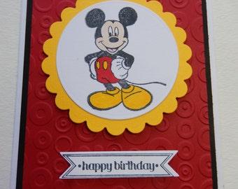 Standing Mickey Birthday Card