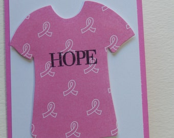Breast Cancer Hope T-Shirt Card