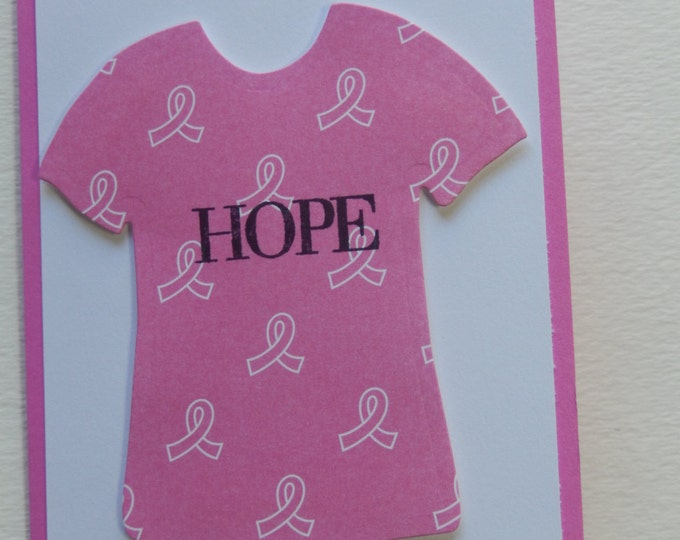 Featured listing image: Breast Cancer Hope T-Shirt Card
