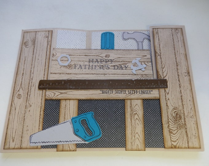 Featured listing image: 3-D Workbench Father's Day Card