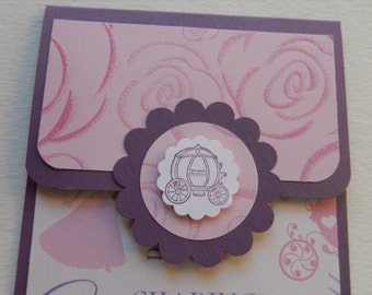 Princess Themed Giftcard Holder in Purple