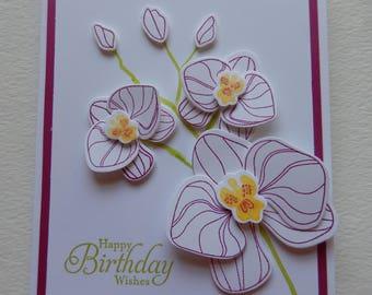 Orchid Birthday Card