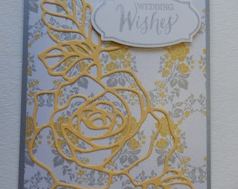 Yellow Rose Wedding Card