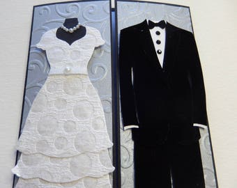 Elegant Bride and Groom Wedding Card