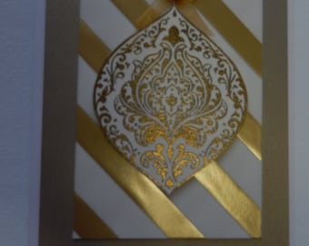 Gold Ornament Christmas Card