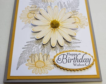 Yellow Daisy Birthday Card (Also available as a Sympathy Card)