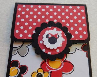 Minnie Mouse Theme Giftcard Holder in Black