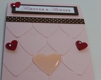 Forever & Always Heart Anniversary Card