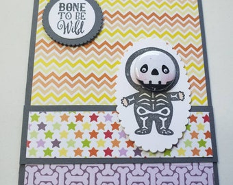 Bone to be Wild Halloween Card