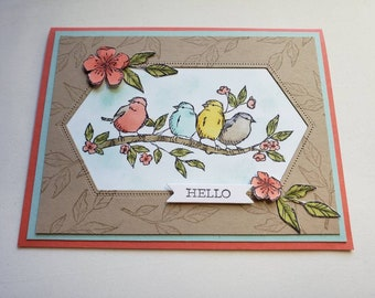 Birds on a Branch Hello Card