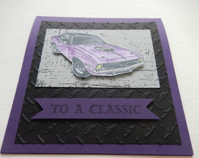 Featured listing image: Challenger Muscle Car Father's Day Card