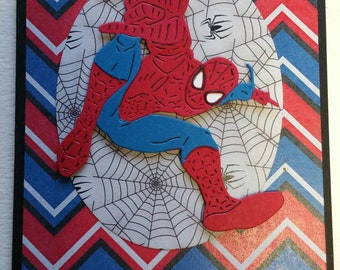 Spiderman Super Hero Card