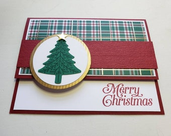 Plaid Christmas Tree Card