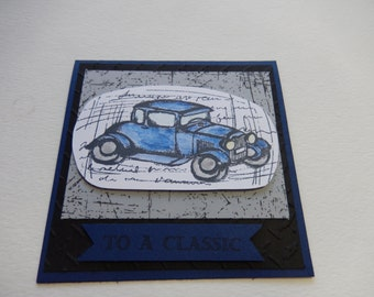 Classic Car Birthday Card
