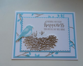 Bluebird Birthday Card