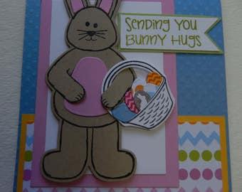 Bunny Hugs Easter Card