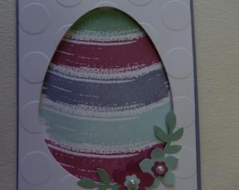 Purple Watercolor Easter Egg Card